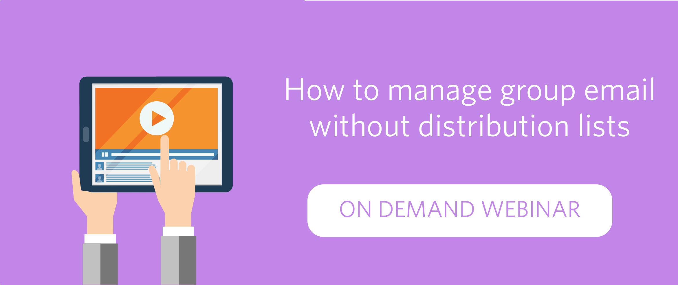 How to manage group emails without distribution lists - The
